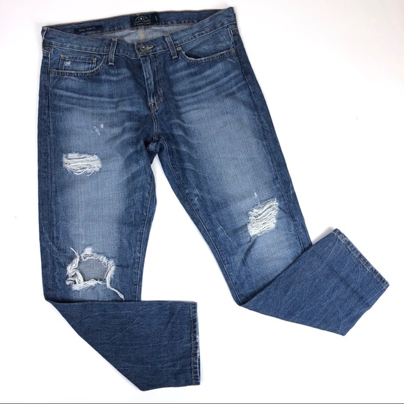 "Lucky Brand Denim - Lucky Brand Sienna Cigarette Distressed Jeans 31"""